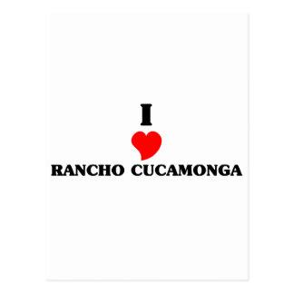 Cartão Postal Eu amo Rancho Cucamonga