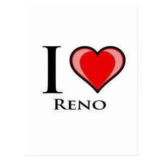 Cartão Postal Eu amo Reno