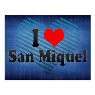 Cartão Postal Eu amo San Miquel, El Salvador