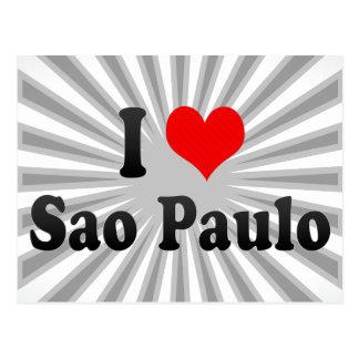 Cartão Postal Eu amo Sao Paulo, Brasil