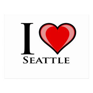 Cartão Postal Eu amo Seattle