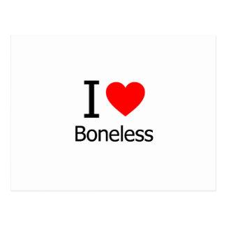 Cartão Postal Eu amo sem ossos