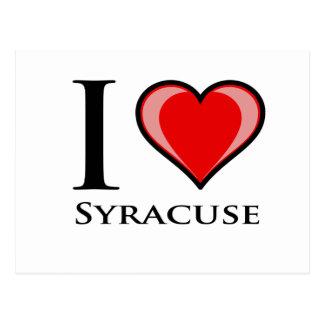 Cartão Postal Eu amo Siracusa