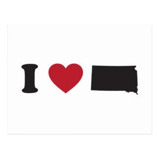 Cartão Postal Eu amo South Dakota