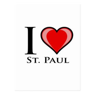 Cartão Postal Eu amo St Paul