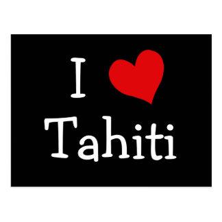 Cartão Postal Eu amo Tahiti
