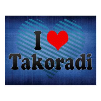 Cartão Postal Eu amo Takoradi, Ghana