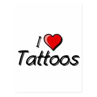 Cartão Postal Eu amo tatuagens
