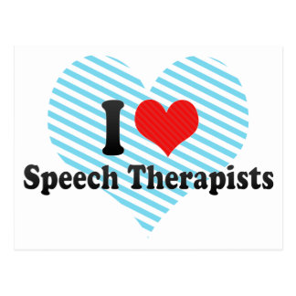 Cartão Postal Eu amo terapeutas de discurso