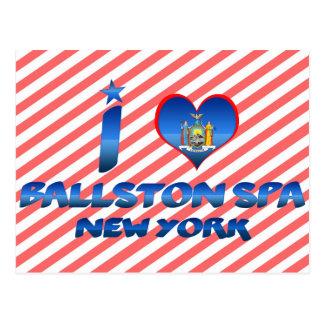 Cartão Postal Eu amo termas de Ballston, New York