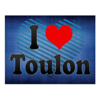 Cartão Postal Eu amo Toulon, France