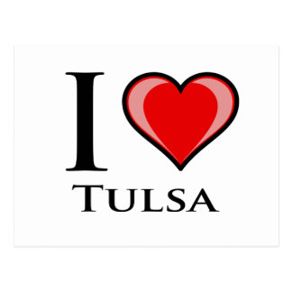 Cartão Postal Eu amo Tulsa