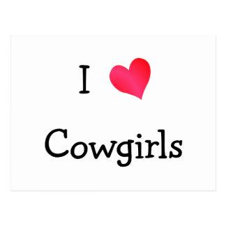 Cartão Postal Eu amo vaqueiras