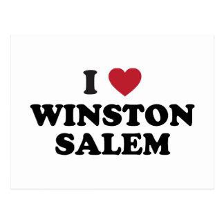 Cartão Postal Eu amo Winston Salem North Carolina