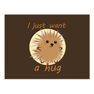 Cartão Postal Eu apenas quero um abraço