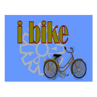 """Cartão Postal """"eu bike"""" o design da BICICLETA e da roda dentada"""