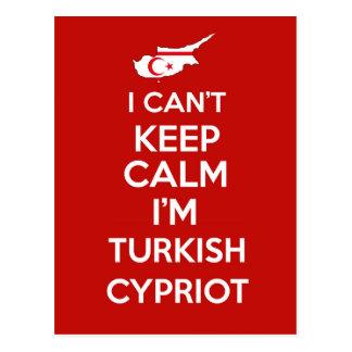 Cartão Postal Eu Cnt mantenho o turco Im calmo cipriota