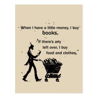 Cartão Postal Eu compro livros