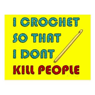 Cartão Postal Eu Crochet,