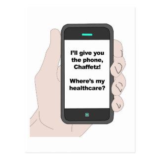 Cartão Postal Eu dar-lhe-ei o telefone, onde sou meus cuidados
