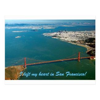 Cartão Postal Eu deixei meu coração em San Francisco