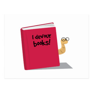 Cartão Postal Eu devoro livros