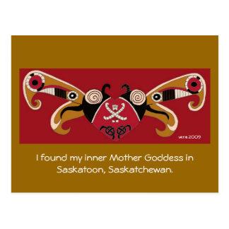 Cartão Postal Eu encontrei minha deusa interna da mãe