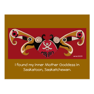 Cartão Postal Eu encontrei minha deusa interna da mãe/para