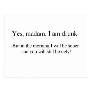 Cartão Postal Eu estou bêbedo mas… (St.K)