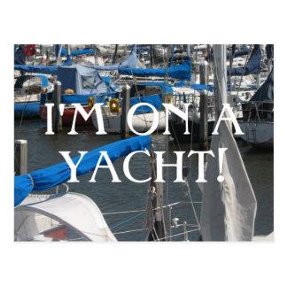 Cartão Postal Eu estou em um porto dos iate dos barcos de vela