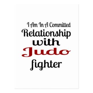 Cartão Postal Eu estou em uma relação cometida com lutador do