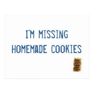 Cartão Postal Eu estou faltando biscoitos caseiros!