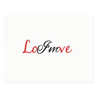 Cartão Postal Eu estou no amor--cartão do quebra-cabeça do rebus