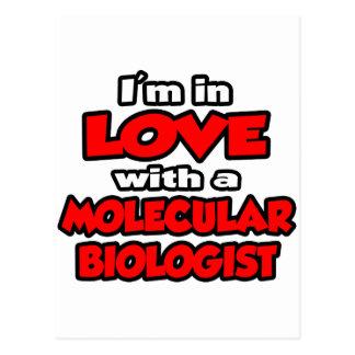 Cartão Postal Eu estou no amor com um biólogo molecular