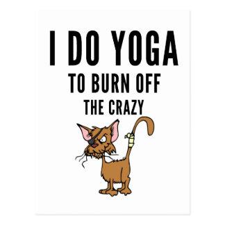 Cartão Postal Eu faço a ioga à queimadura do louco