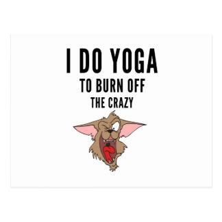 Cartão Postal Eu faço a ioga à queimadura do louco (2)
