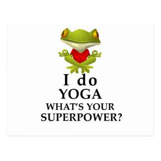 Cartão Postal eu faço a ioga que s seu poder super