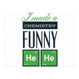 Cartão Postal Eu fiz uma química engraçada aqui