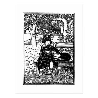 Cartão Postal Eu gosto da rima de berçário pequena do bichano