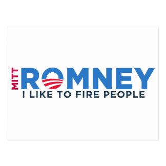 Cartão Postal Eu gosto de pessoas do fogo de T