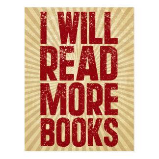 Cartão Postal Eu lerei mais livros