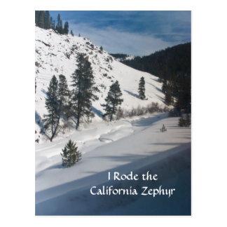 Cartão Postal Eu montei o Zephyr de Califórnia
