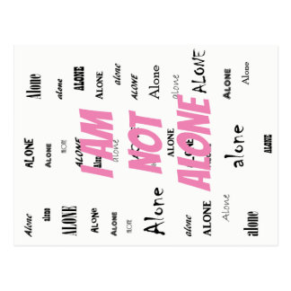 Cartão Postal Eu não estou sozinho