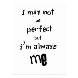Cartão Postal eu não posso ser perfeito mas eu sou sempre mim