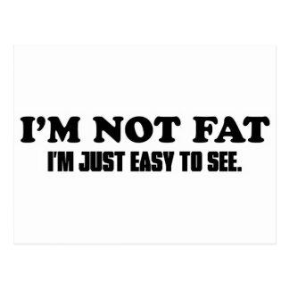 Cartão Postal Eu não sou gordo