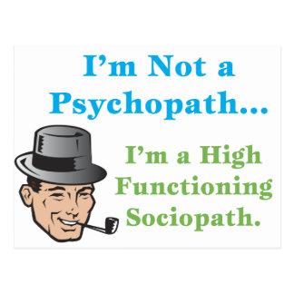 Cartão Postal Eu não sou um psicopata…