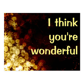 Cartão Postal Eu penso que você é maravilhoso