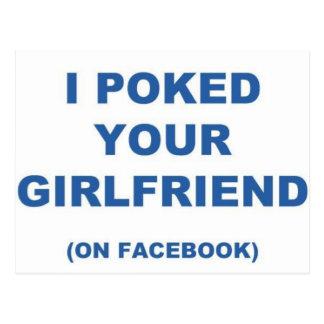 Cartão Postal Eu piquei seu namorada