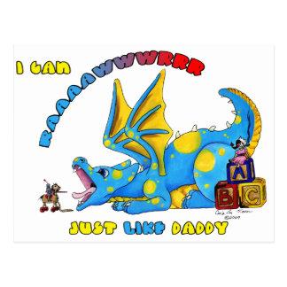 Cartão Postal Eu posso RAWR apenas como o dragão babby bonito do