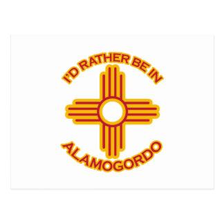 Cartão Postal Eu preferencialmente estaria em Alamogordo